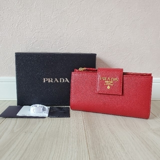 PRADA - プラダPRADA│2つ折り財布 サフィアーノ 1ML005 ウォレット│新品同様