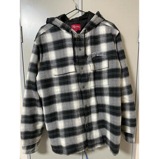 Supreme - 美品 Supreme Quilted Hooded Plaid Shirt M