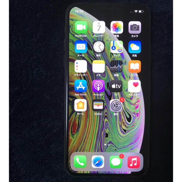 Apple(アップル)のiPhone XS スペースグレイ SIMフリー 64GB スマホ/家電/カメラのスマートフォン/携帯電話(スマートフォン本体)の商品写真