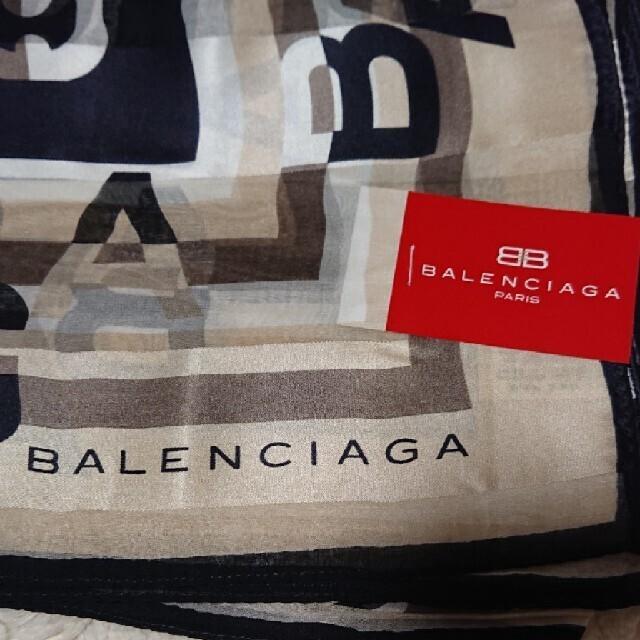 Balenciaga(バレンシアガ)の《未使用》シルク100% BALENCIAGA 88㎝×88㎝ スカーフ レディースのファッション小物(バンダナ/スカーフ)の商品写真