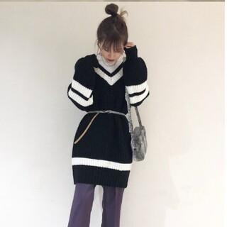 WEGO - WEGO 韓国ファッション ニットワンピース セーター 冬物処分セール