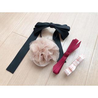 フラワー(flower)のヘアアクセ4点セット(バレッタ/ヘアクリップ)