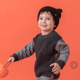 petit main - プティマイン ワッフルニットドッキングセーター