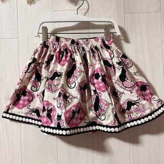 シャーリーテンプル(Shirley Temple)の【シャーリーテンプル】猫ちゃんがいっぱいで可愛いスカート♡(スカート)
