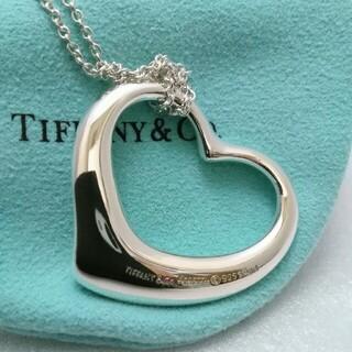 Tiffany & Co. - ティファニーネックレス 大きなオープンハート ロングチェーン