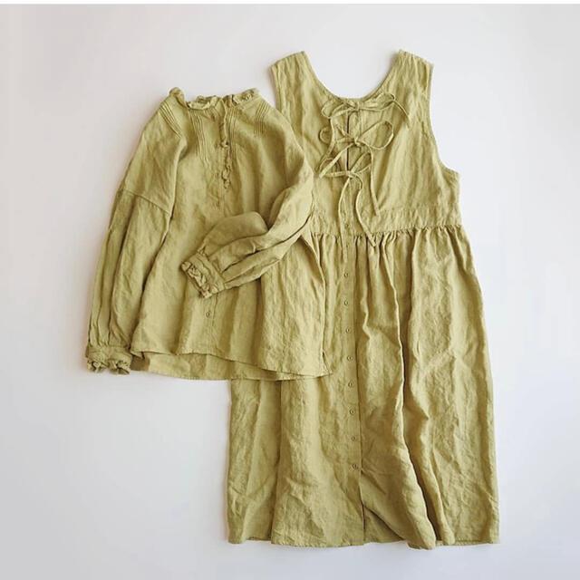 SM2(サマンサモスモス)のSlow Linen バックリボンジャンスカート レディースのワンピース(ロングワンピース/マキシワンピース)の商品写真