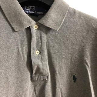 POLO RALPH LAUREN - ラルフローレン Ralph Lauren  グレー 緑ロゴ  ポロシャツ