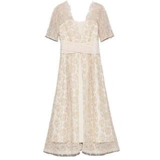 Lily Brown - リリーブラウン  ウエストクロスラメレースドレス