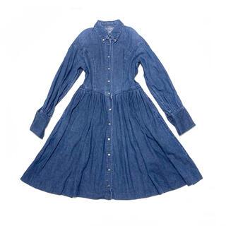 Lois CRAYON - Lois CRAYON vintage デニム ロングワンピース ブルー/青