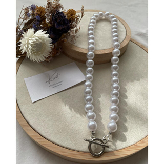 BEAUTY&YOUTH UNITED ARROWS - pearl necklace 41cm-silver-