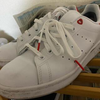 adidas - adidas スタンスミス 赤 レッド ハート 23.5 M 23 24