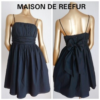 メゾンドリーファー(Maison de Reefur)のMAISON DE REEFUR *ギャザーキャミソール ミニワンピース(ひざ丈ワンピース)