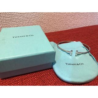 Tiffany & Co. - ティファニー Tワイヤーバングル K18WG(ホワイトゴールド) ブレスレット