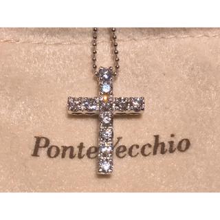 ポンテヴェキオ(PonteVecchio)のPonteVecchio ポンテヴェキオ K18WG0.70 ネックレス クロス(ネックレス)