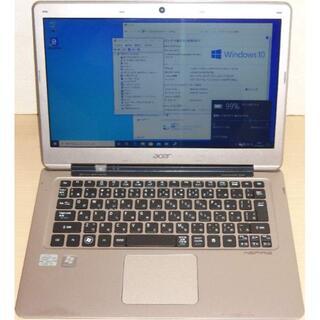 エイサー(Acer)のacer薄型ノートPC Aspire S3-391-H34D SSD Win10(ノートPC)