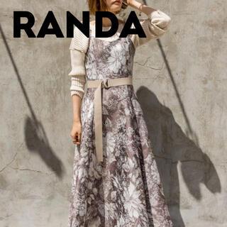 RANDA - ジャガードフレアワンピース