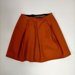 トゥモローランド(TOMORROWLAND)のトゥモローランド 38 スカート オレンジ ハイウエスト フレア ミニ丈 (ミニスカート)