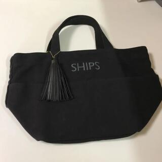 SHIPS - SHIPS シップス タッセル ポケット トート バッグ 黒