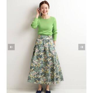 IENA - IENA かすれフラワー ギャザースカート