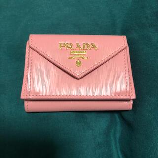 PRADA - プラダ 美品 ミニ財布 三つ折り 財布 ピンク
