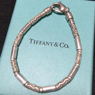 Tiffany & Co. - ヴィンテージ ティファニー アズテック ジグザグ ブレスレット バングル