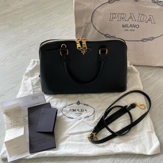 PRADA - PRADA サフィアーノ ハンドバッグ ブラック