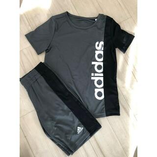 adidas - アディダス セットアップ ハーフパンツ 上下セット 130センチ