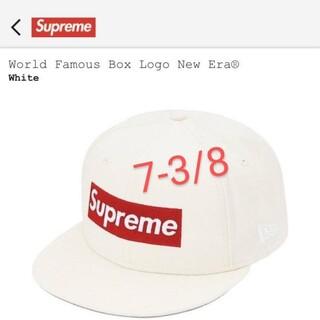 シュプリーム(Supreme)のWorld Famous Box Logo New Era®7-3/8(キャップ)