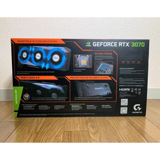 【新品】GIGABYTE GeForce RTX 3070 GAMING OC8 スマホ/家電/カメラのPC/タブレット(PCパーツ)の商品写真