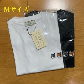 MAISON KITSUNE' - メゾンキツネ ダブルフォックスヘッドパッチ Tシャツ 白黒セット Mサイズ