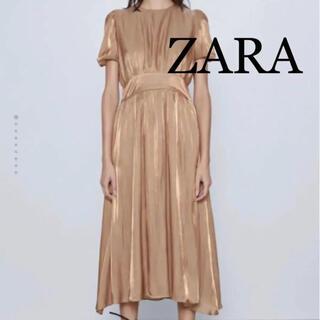 ZARA - ZARA ゴールド ドレス ワンピース