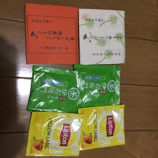 上煎茶、胡麻ほうじ茶、伊右衛門煎茶、リプトン紅茶ティーバッグ6つセット(茶)