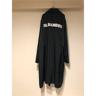 Jil Sander - jil sander ジルサンダー スタッフ ロゴ プリント ステンカラーコート