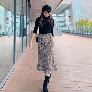rienda - anruly レオパードニットスカート