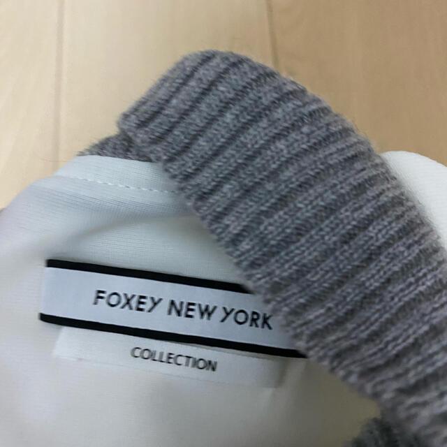 FOXEY(フォクシー)のフォクシーニューヨーク ホワイト ワンピース 袖あり レディースのワンピース(ひざ丈ワンピース)の商品写真
