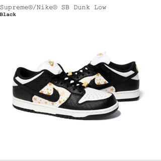 Supreme - supreme nike sb dunk low 黒 27cm