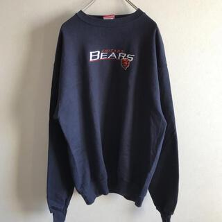 海外古着NFL シカゴ・ベアーズ  トレーナー/刺繍ロゴ/Mサイズ