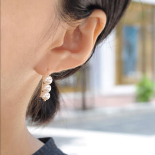 ete - 【新品未使用】anq. K10 Pearls フックピアス (淡水パール)