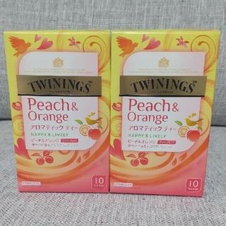 トワイニング ティーバッグ ピーチ&オレンジ 10袋×2箱(茶)