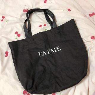 イートミー(EATME)のEATME ロゴトートバッグ ブラック(トートバッグ)