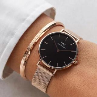 ダニエルウェリントン(Daniel Wellington)の新品 時計 バングル セット ダニエル ウェリントン ローズゴールド (腕時計)
