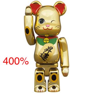 メディコムトイ(MEDICOM TOY)のBE@RBRICK 招き猫 昇運 弐 金メッキ 400%(その他)