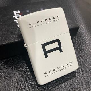 ジッポー(ZIPPO)の【ZIPPO】ALPHABET R REGULAR JT非売品 美品 箱付き(タバコグッズ)