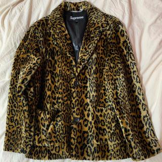 シュプリーム(Supreme)のsupreme 16SS Leopard Faux Fur Coat M(ダウンジャケット)