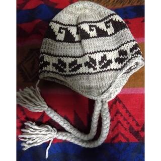 エルディーエス(LDS)の395★ LDS  三つ編み付きニット帽(ニット帽/ビーニー)