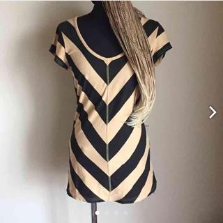 スライ(SLY)のSLY ストライプチュニックTシャツ(Tシャツ(半袖/袖なし))