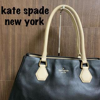 kate spade new york - 【kate spade new york】トートバッグ リボン柄 ブラック