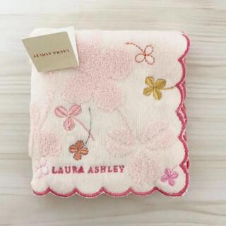 LAURA ASHLEY - 【新品未使用】 Laura Ashrey タオルハンカチ ピンク 花