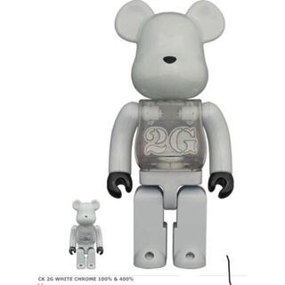 MEDICOM TOY - BE@RBRICK 2G WHITE CHROME 100% & 400%
