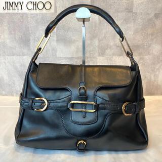 JIMMY CHOO - 【美品】Jimmy Choo ジミーチュウ ハンド ショルダーバッグ レザー 黒